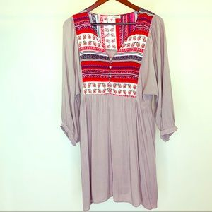 Umgee Plus Mixed Print Boho Tunic Size 1XL